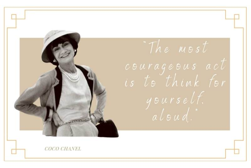 Well known Coco Chanel saying about originality