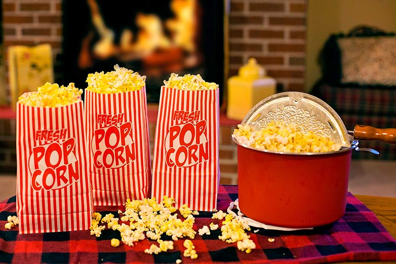 find out how many calories are in popcorn and the different recipes
