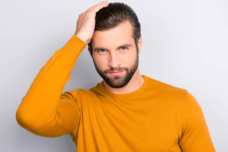 Haircuts and hairstyles for men with a receding hairline