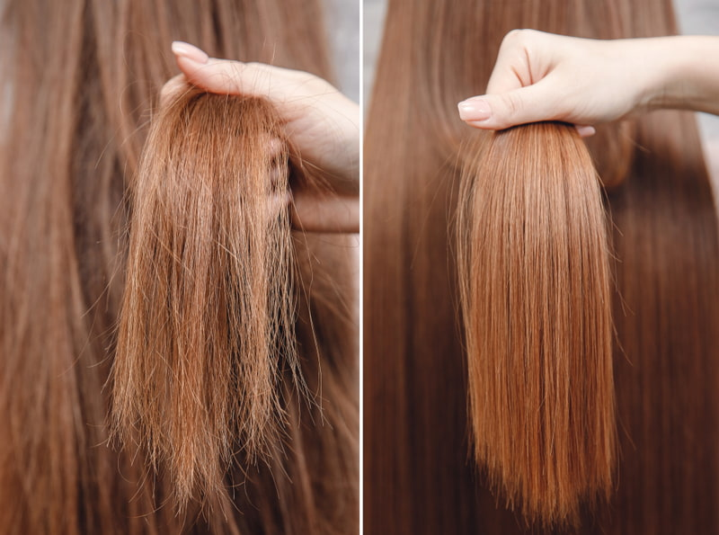 Keratin treatment is a cosmetic procedure that nourishes the hair fibers
