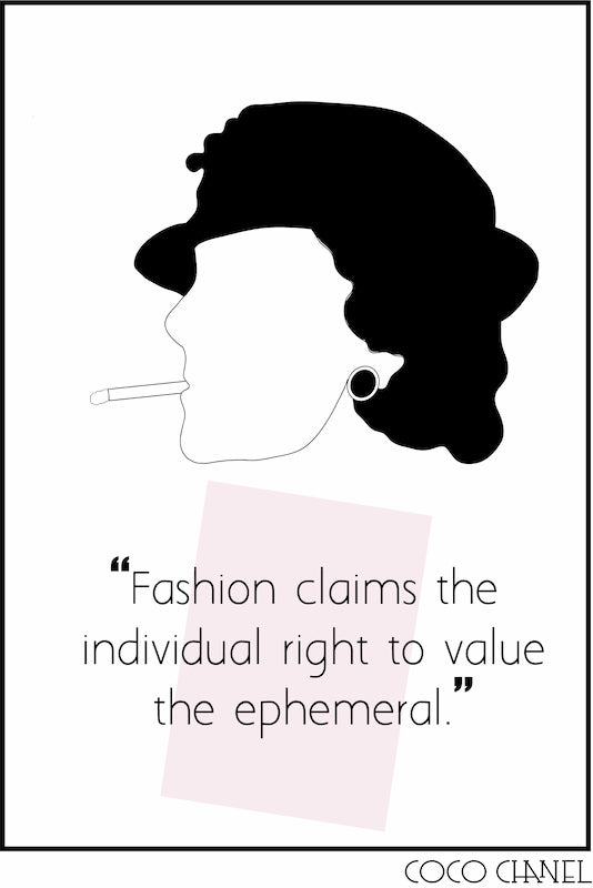 Famous remarks about fashion and women by Coco Chanel