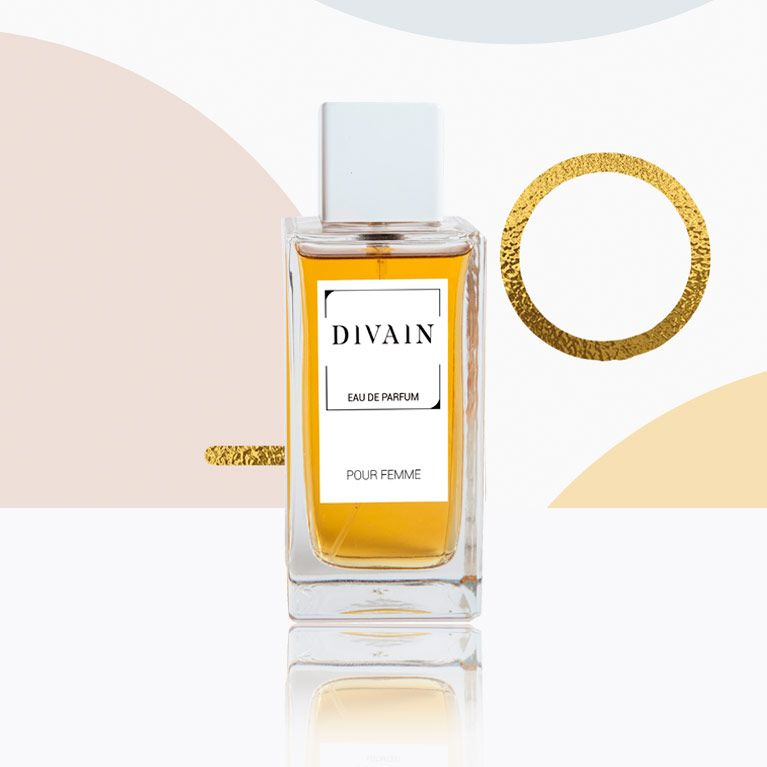 Perfume bottle of DIVAIN replica perfume for woman.