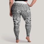 Variant image for Folk Vegvisir Leggings (Plus Size)