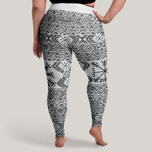 Product image for Folk Vegvisir Leggings (Plus Size)