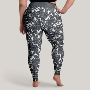 Product image for Jelling Wolf Pattern Leggings (Plus Size)