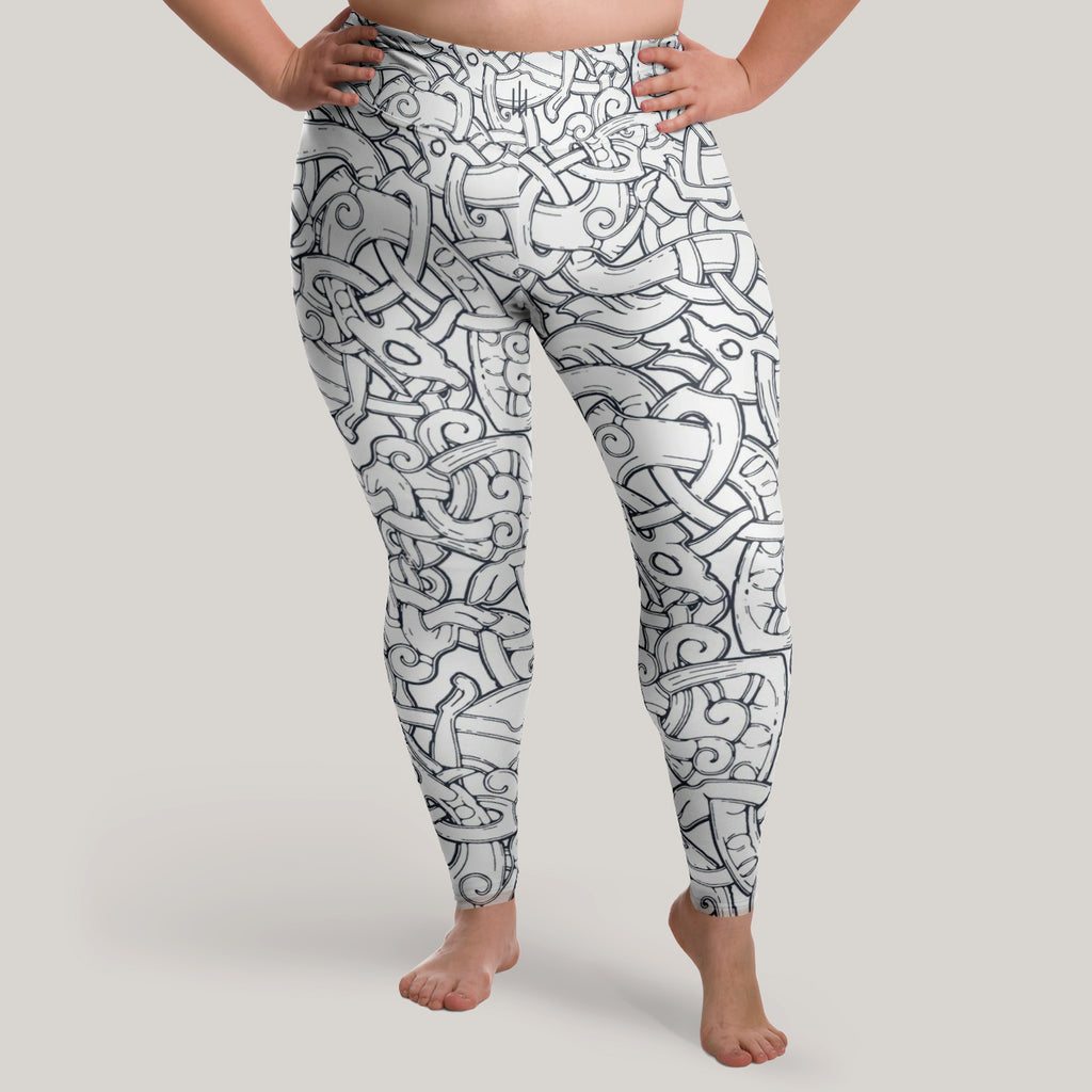 Jelling Wolves Leggings (Plus Size)