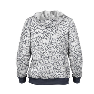 Product image for Jelling Wolves Faux-Wool Hoodie