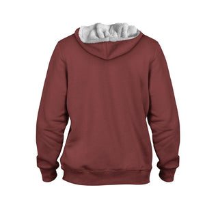 Product image for Red Valhyr Faux-Wool Hoodie