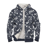 Variant image for Jelling Wolf Pattern Faux-Wool Hoodie