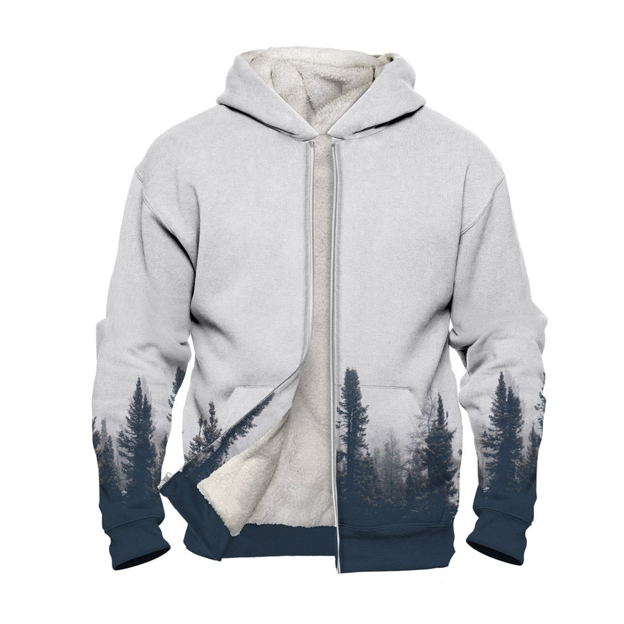 Spruce Forest Faux-Wool Hoodie