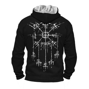 Product image for Vegvisir Dreamcatcher Faux-Wool Hoodie