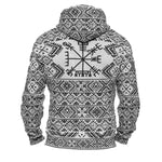 Variant image for Folk Vegvisir Faux-Wool Hoodie