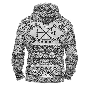 Product image for Folk Vegvisir Faux-Wool Hoodie