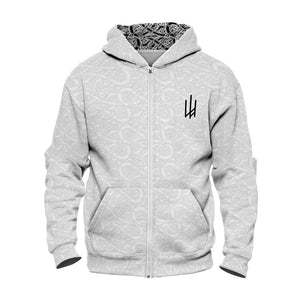 Product image for White Valhyr Zip Hoodie