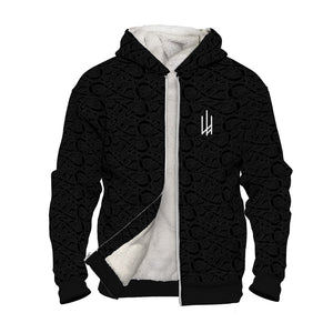 Product image for Black Valhyr Faux-Wool Hoodie