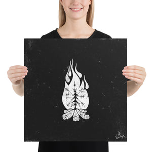 Product image for Vegvisir Campfire Poster