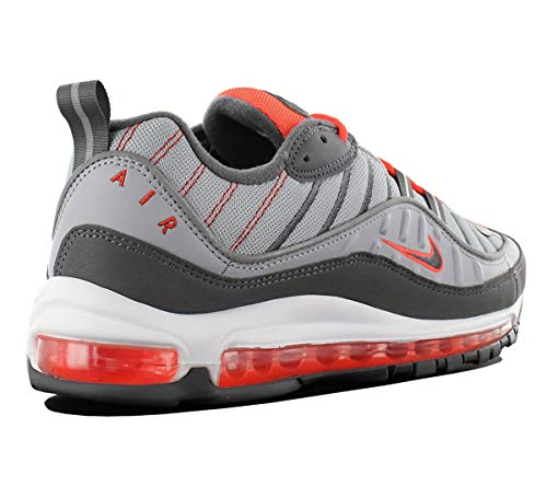 sports shoes 8d668 5a606 Air Max 98 Mens Total Crimson 640744-006 Wolf Grey Dark Grey Running Shoes.  Size Charts