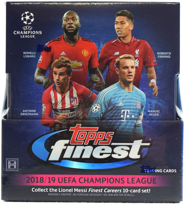 2018/19 Topps Finest UEFA Champions League Soccer Hobby Box - Sports Trading Cards UK