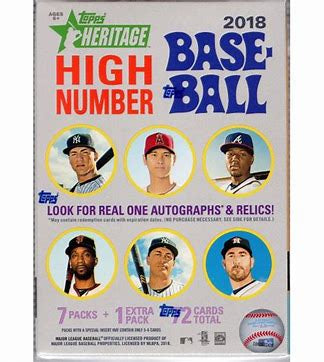 2018 Topps Heritage High Number Baseball Blaster Box - Sports Trading Cards UK