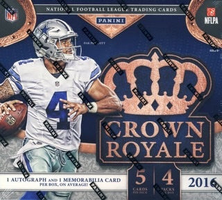 2016 Panini Crown Royale Football Retail Box - Sports Trading Cards UK