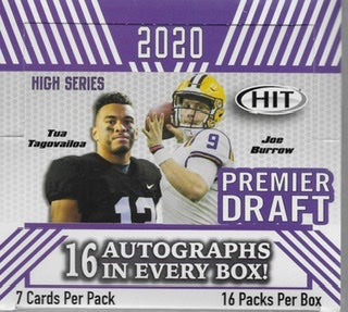 2020 Sage Hit High Series Football Hobby Box - Sports Trading Cards UK