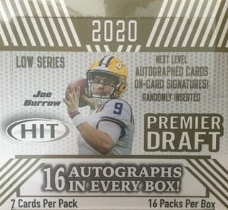 2020 Sage Hit Low Series Football Hobby Box - 16 Autos per box - Sports Trading Cards UK