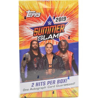 2019 Topps WWE SummerSlam Wrestling hobby pack x 1 - Sports Trading Cards UK