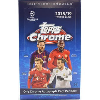 2018/19 Topps Chrome UEFA Champions League Soccer Hobby Box - Sports Trading Cards UK
