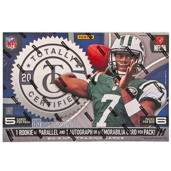 2013 Panini Totally Certified Football Hobby Box - Sports Trading Cards UK
