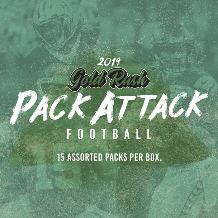 2019 Gold Rush Football Pack Attack Box - 15 packs - Sports Trading Cards UK