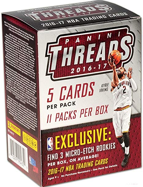 2016-17 Panini Threads Basketball 11ct Blaster Box - Sports Trading Cards UK