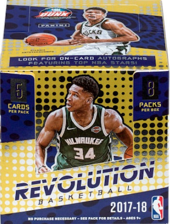 2017-18 Panini Revolution Basketball Hobby Box - Sports Trading Cards UK