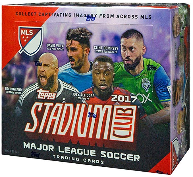 2017 Topps Stadium Club MLS Soccer 36ct Retail Box - Sports Trading Cards UK