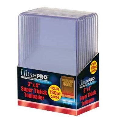 3x4 Ultra Pro Super Thick 130pt Toploaders Pack of 10 - Sports Trading Cards UK