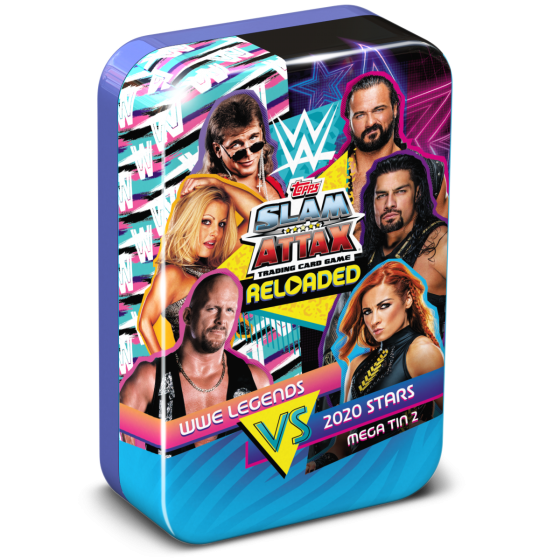 WWE Slam Attax Reloaded 2020 - Legends vs 2020 Stars, Mega Tin 2 with the Undertaker Limited Edition card!