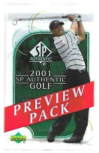 2001 Upper Deck SP Authentic Golf Preview Pack - Sports Trading Cards UK