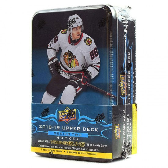 2018-19 Upper Deck Series 2 Hockey Tin Box - Sports Trading Cards UK