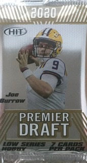 2020 Sage Hit Low Series Football Hobby Pack - Sports Trading Cards UK