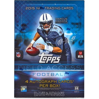 2015 Topps Field Access Football Hobby Box - Sports Trading Cards UK