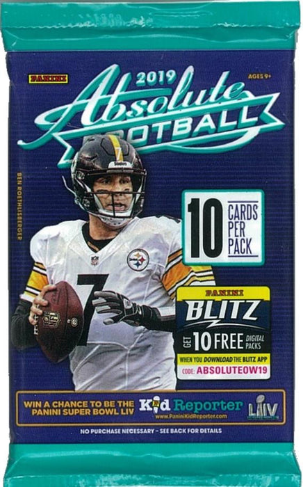 2019 Panini Absolute Football Retail Pack - Sports Trading Cards UK