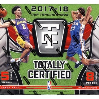 2017/18 Panini Totally Certified Basketball Hobby Box - Sports Trading Cards UK