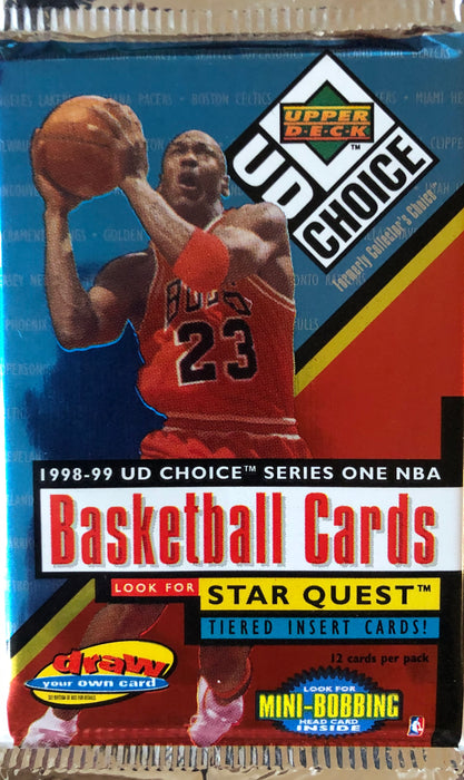 1998/99 Upper Deck Collector's Choice Series 1 Basketball Pack - Sports Trading Cards UK