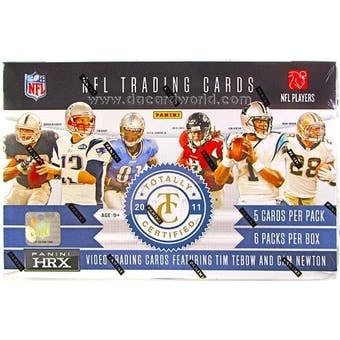 2011 Panini Totally Certified Football Hobby Box - Sports Trading Cards UK