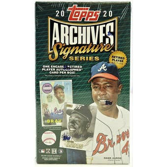 2020 Topps Archives Signature Series Retired Player Edition Baseball Hobby Box - Sports Trading Cards UK
