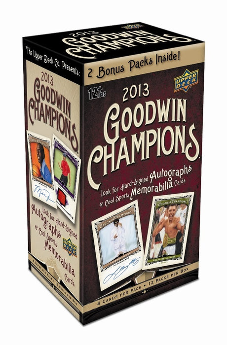 2013 Upper Deck Goodwin Champions 12ct Blaster Box - Sports Trading Cards UK