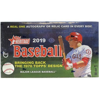 2019 Topps Heritage Baseball Hobby Box - Sports Trading Cards UK