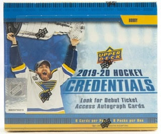 2019/20 Upper Deck Credentials Hockey Hobby Box - Sports Trading Cards UK