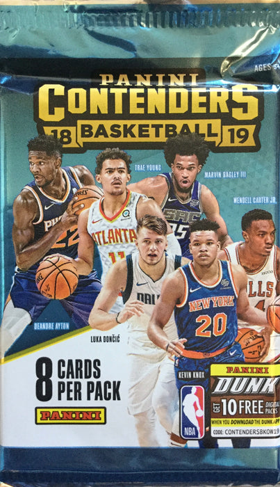 2018-19 Panini Contenders Basketball Retail Pack - Sports Trading Cards UK