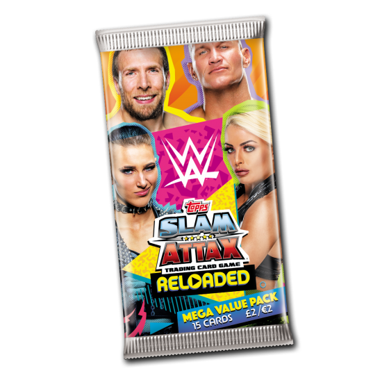 WWE Slam Attax Reloaded 2020 - Mega Packet (15 Cards)