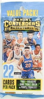 2018/19 Panini Contenders Basketball Jumbo Fat Pack - Sports Trading Cards UK